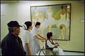 A painting in a hospital